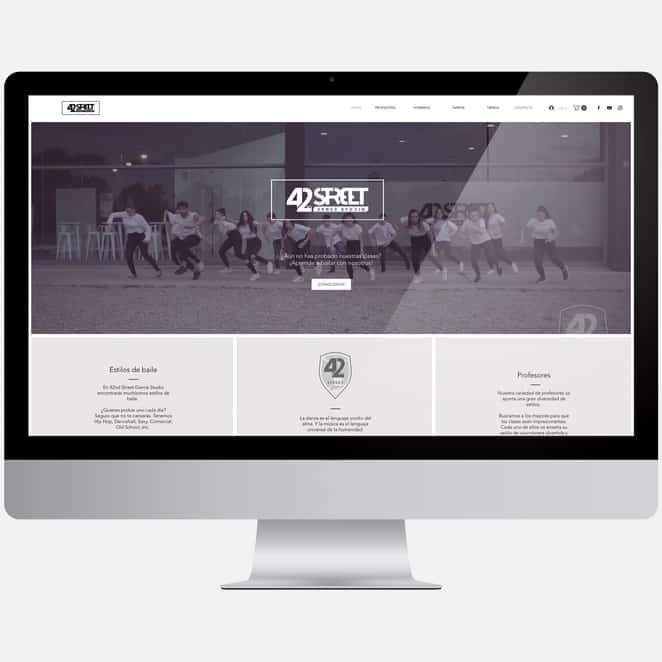 Diseño web 42ndstreetdancestudio.com