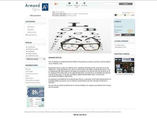 Diseño Web Armand Optics